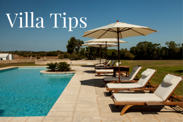 Tips when booking a villa holiday